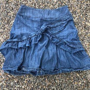 Anthropologie ETT Taia Denim Skirt Size 4
